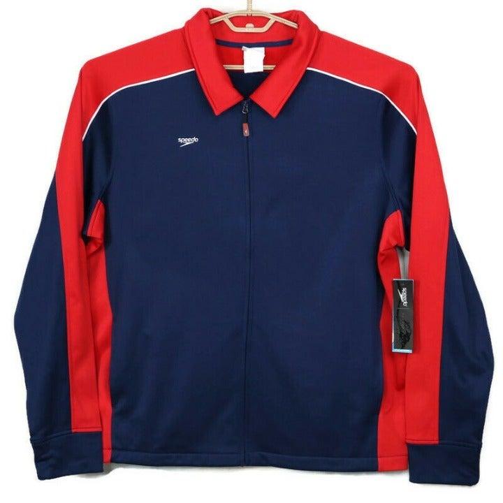 Speedo Team Warm Up Jacket Blue Red XXL