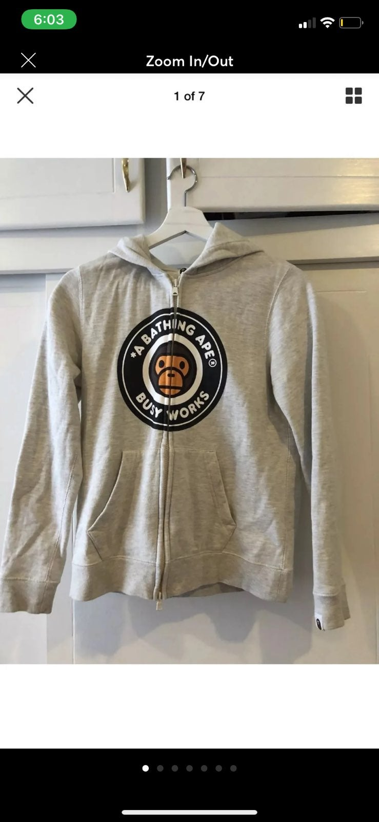 Bape womens XS zip jacket