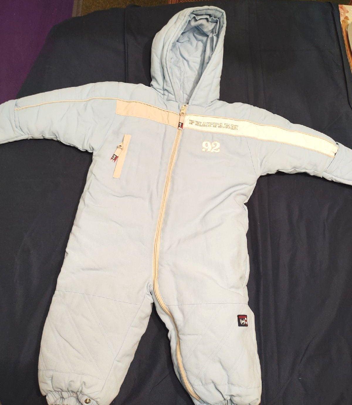 Baby boy snowsuit size 12-18mo