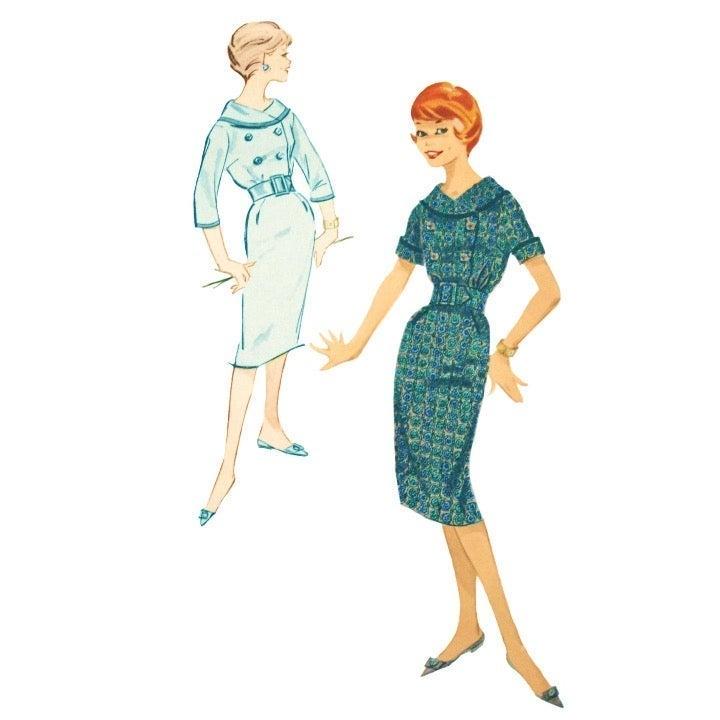 1950s Advance 9102 Teen Sheath Dress 12