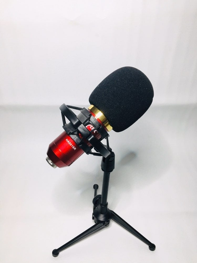 Red studio mic
