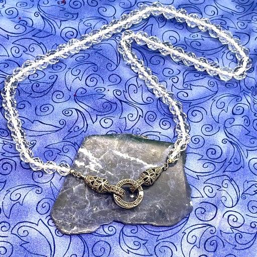 Sterling Vintage Crystal Necklace