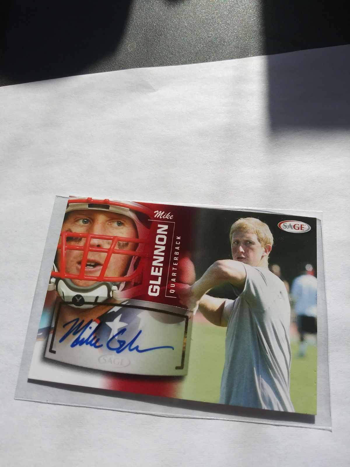 2013 Sage Red Autographs Mike Glennon QB