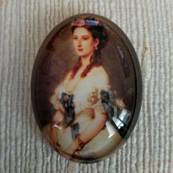 XL Victorian Cameo Glass Cabochon 6044