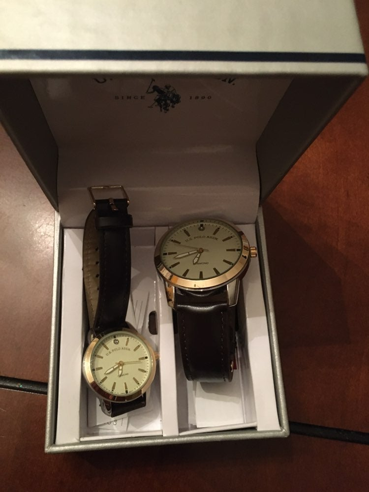US Polo Assn. His and Her watch set
