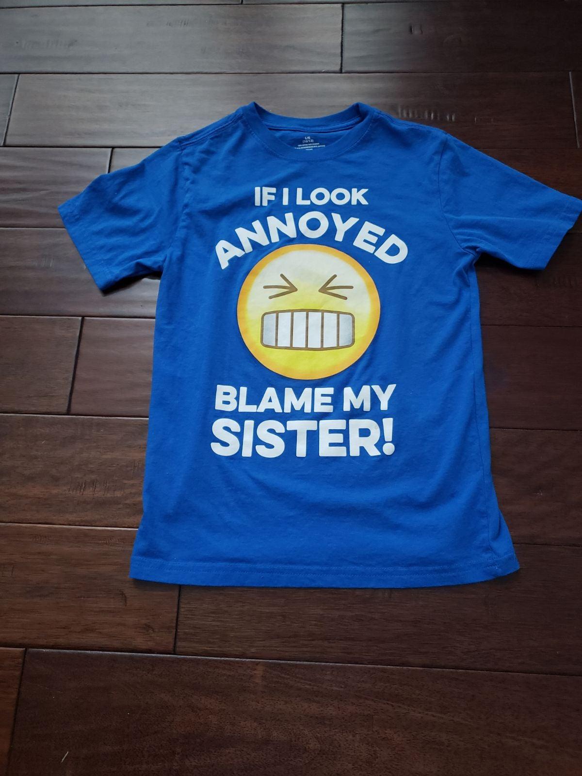 Boys Blue & Yellow Graphic Tshirt