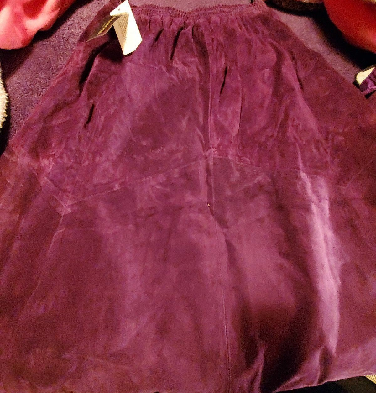New large bushwacker leather skirt purpl