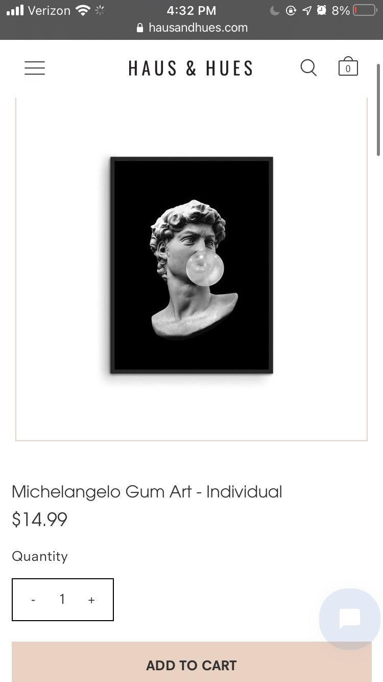 Haus And Hues David Bubblegum Art Print