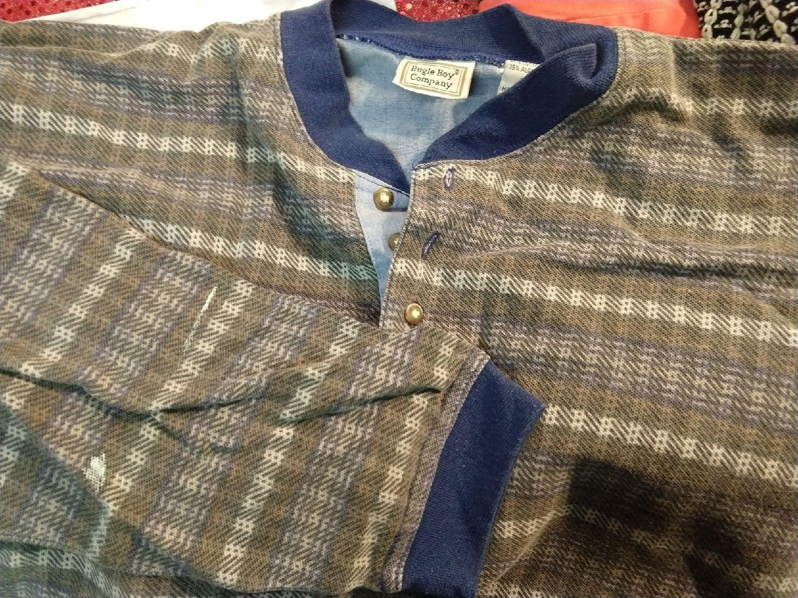 Vintage men's bugle boy shirt Large