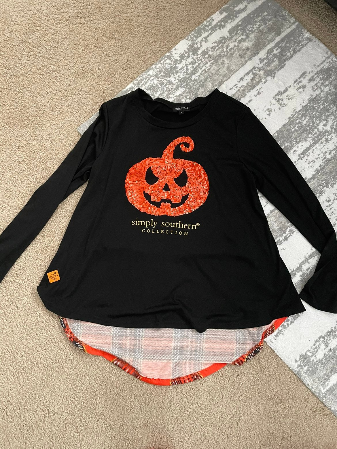 Simply Southern Large Halloween Pumpkin