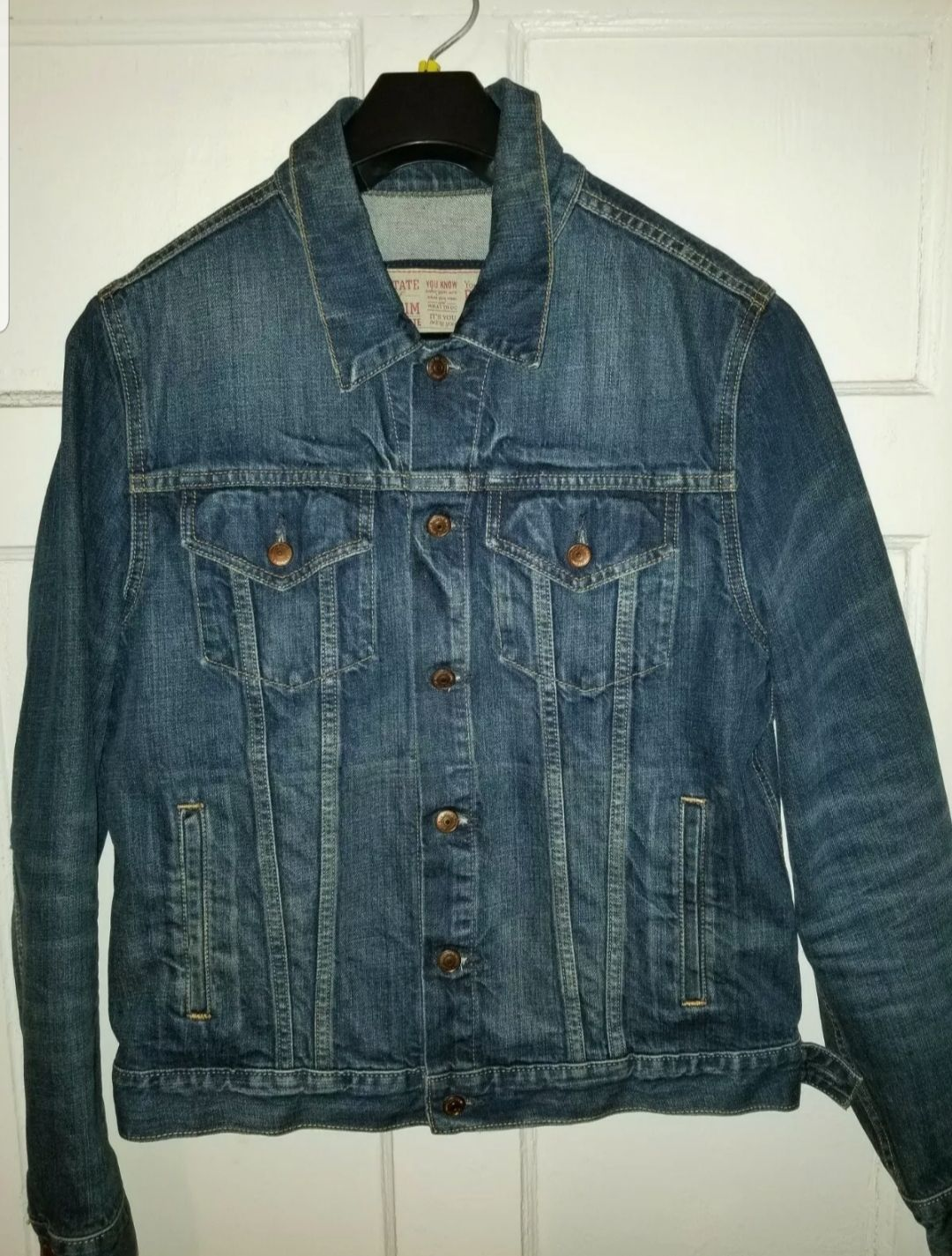 Arizona Jeans Mens Denim Trucker Jacket