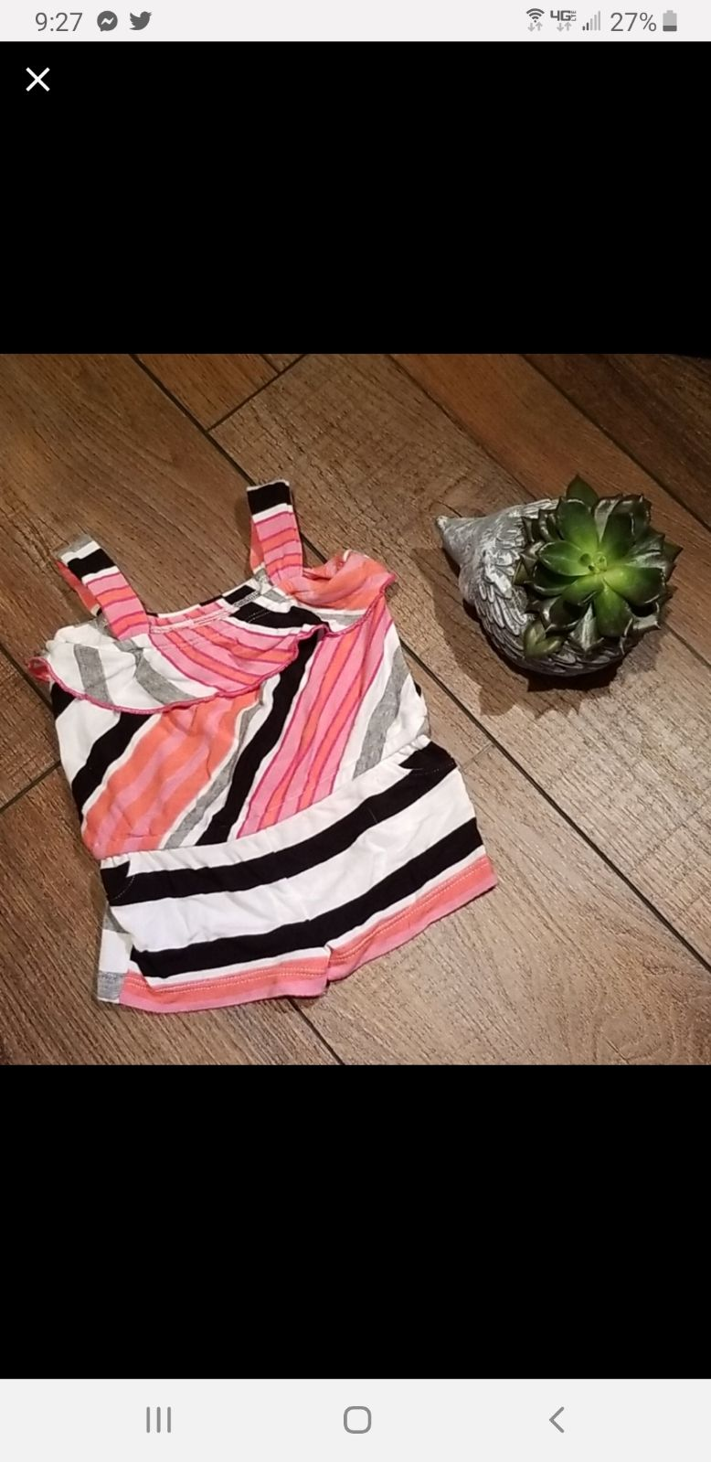 Baby girl striped romper Amy Coe 3 month