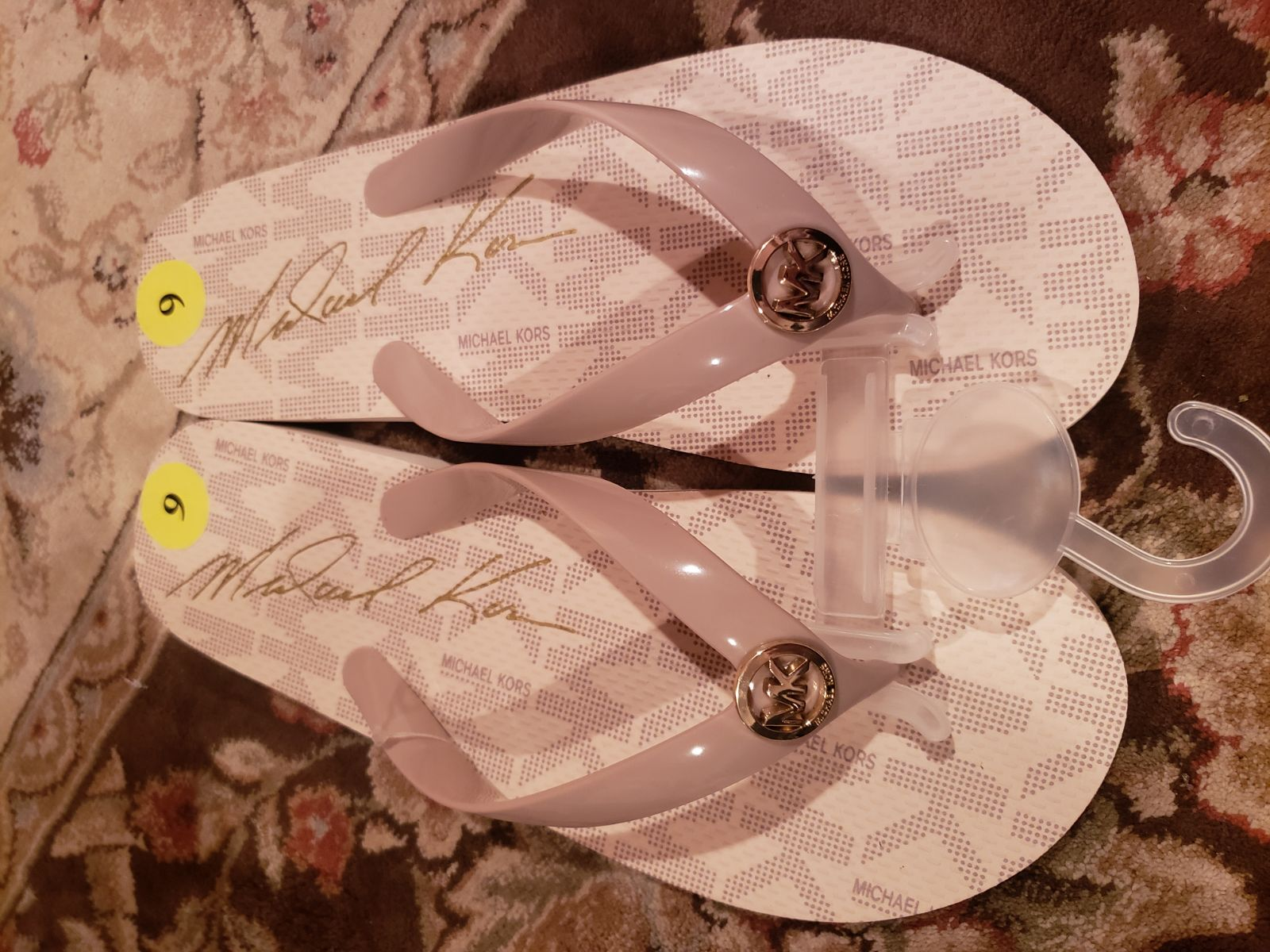 Michael Kors Pink Sandals MK Flip Flops