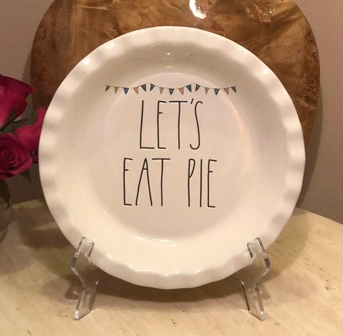 Rae Dunn LET'S EAT PIE Plate