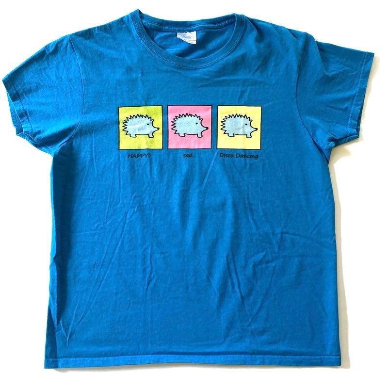 Hedgehog Short Sleeve T Shirt Blue