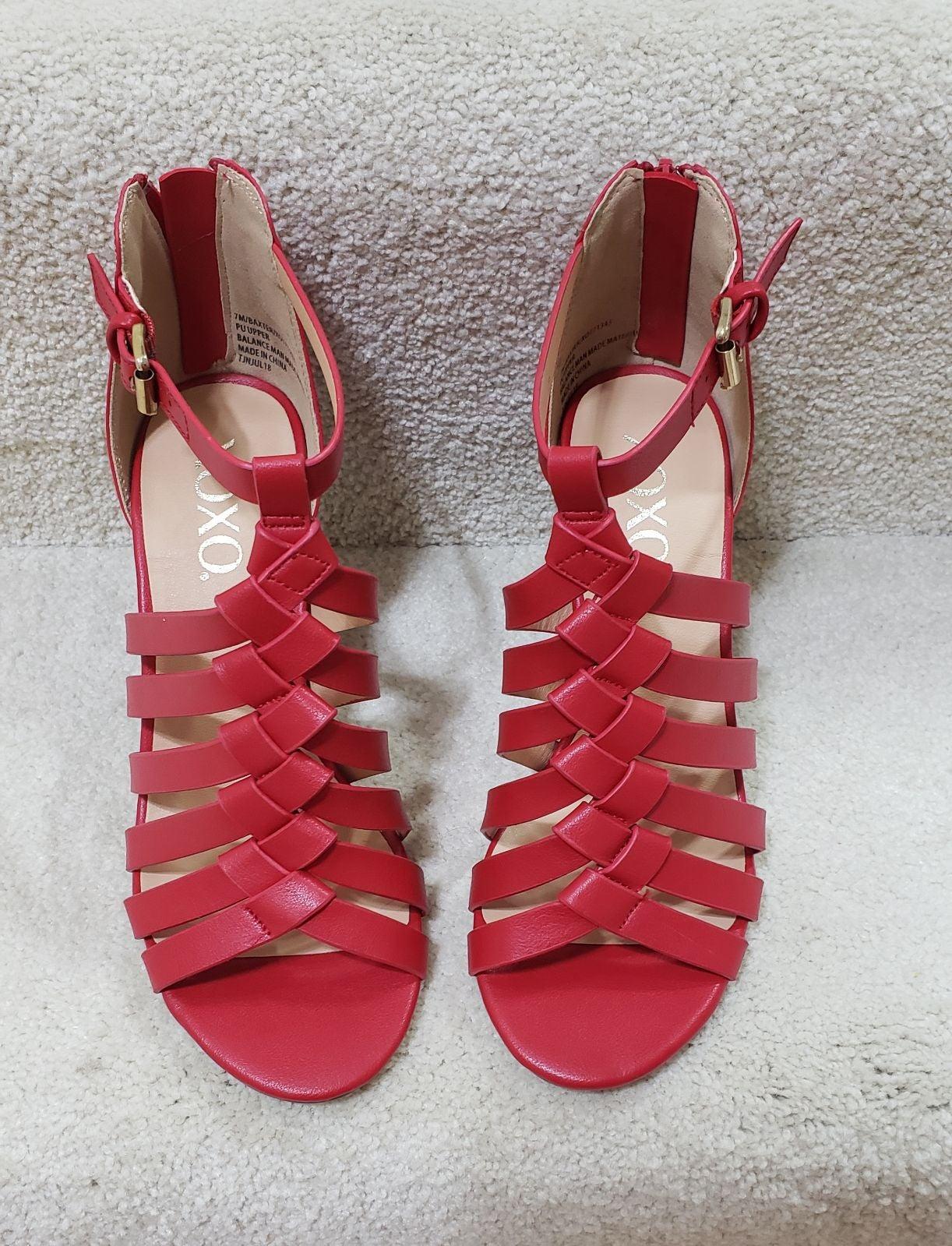 XOXO Baxter Wedge Sandals 7
