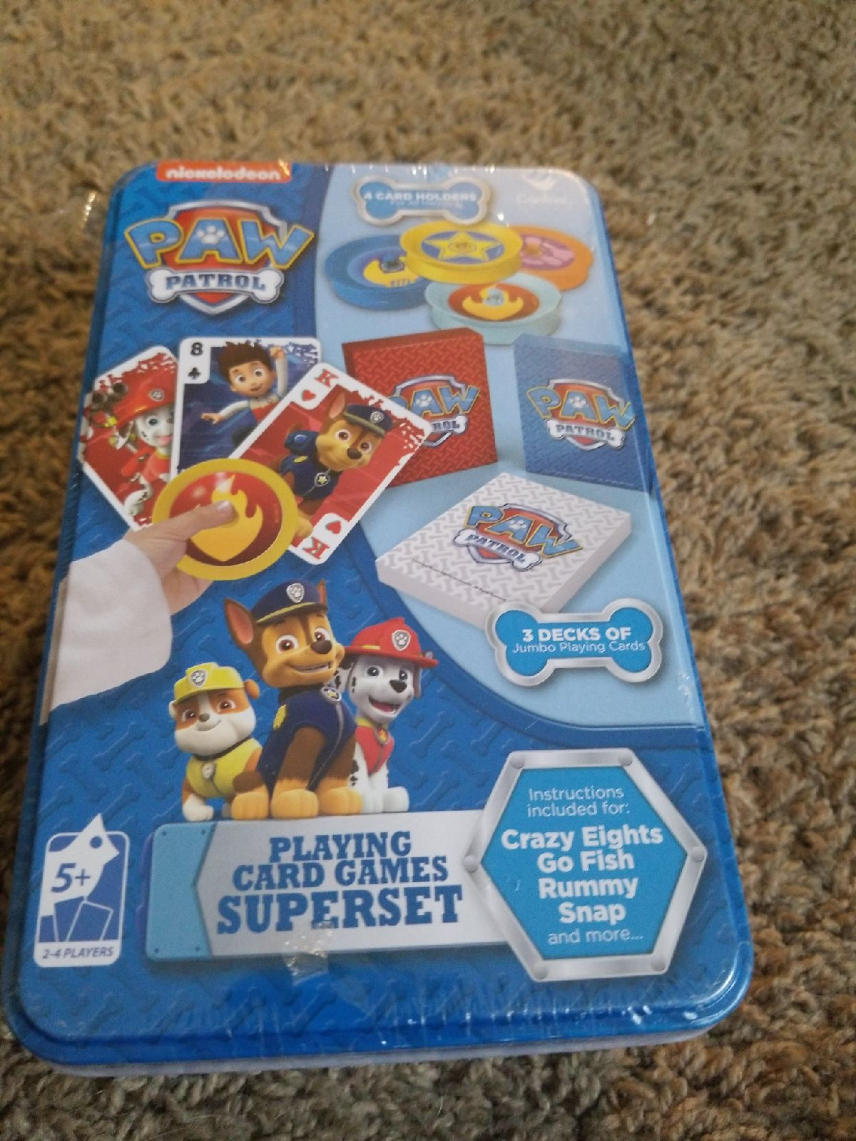 Paw Patrol Playing Card Games Superset