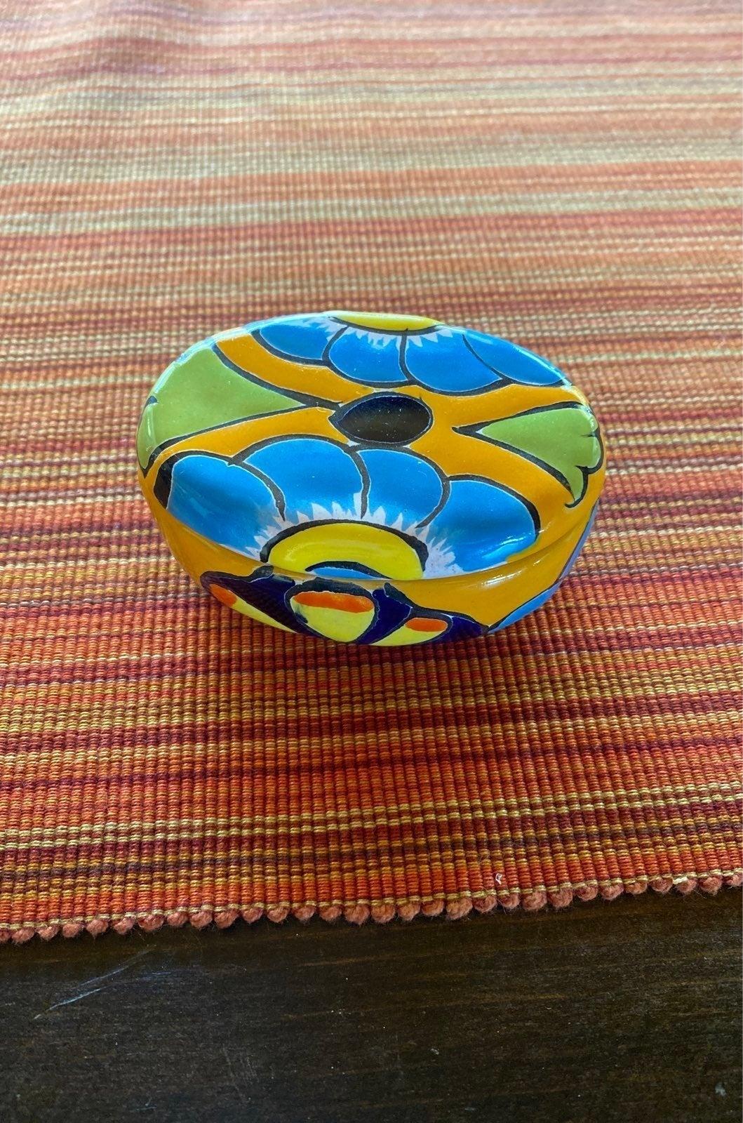 Hand-Painted Talavera Trinket Box