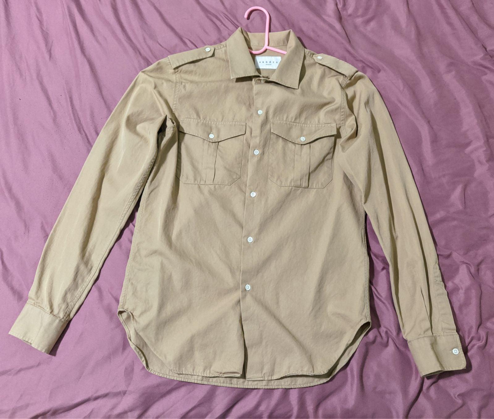 Sandro Military Style Button Down Shirt