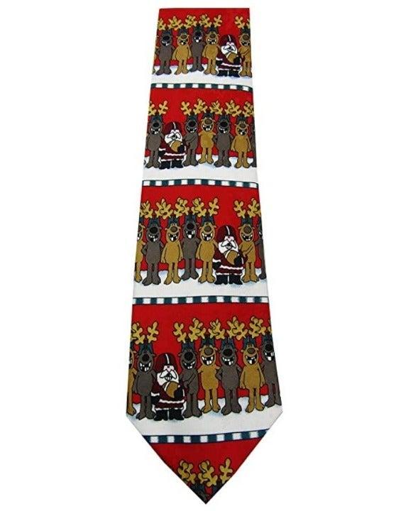 Men's Football Horizontal Christmas Tie