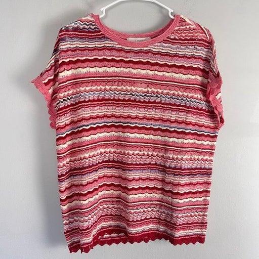 NWT LOFT striped open knit sweater top
