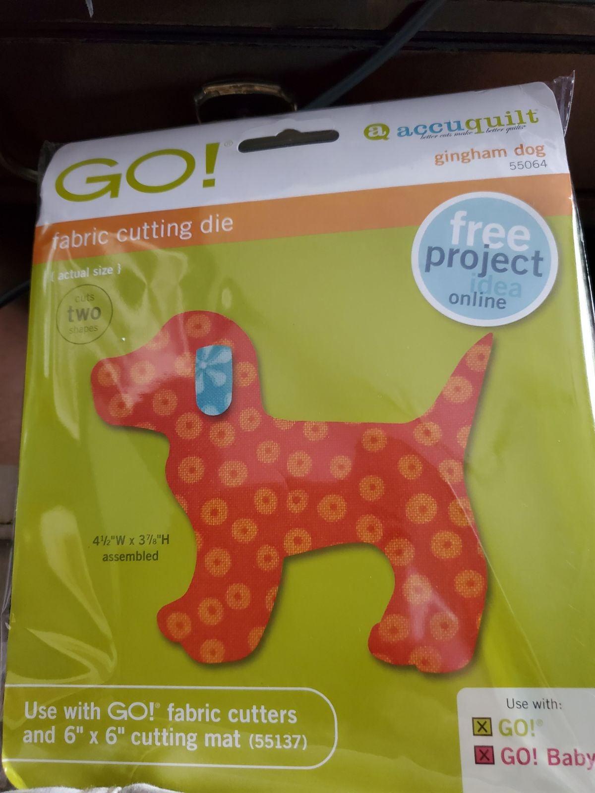 Accuquilt GO! Die gingham puppy
