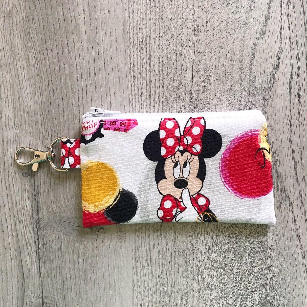 Minnie Mouse Zipper Pouch Key chain