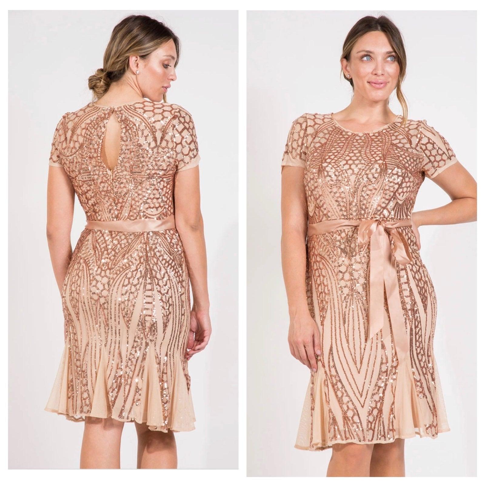 R & M Richards Cocktail Sequin Dress