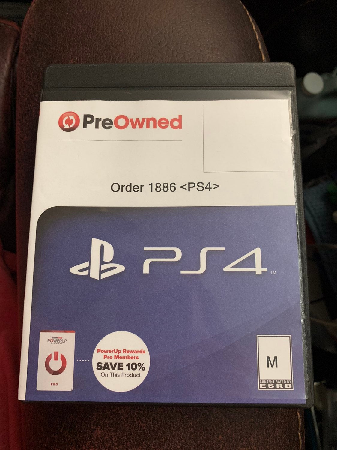 PS4 Order 1886