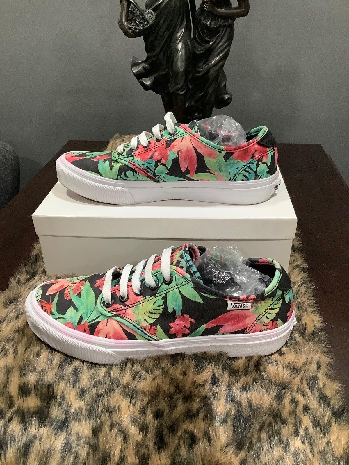 vans hawaiian floral shoes