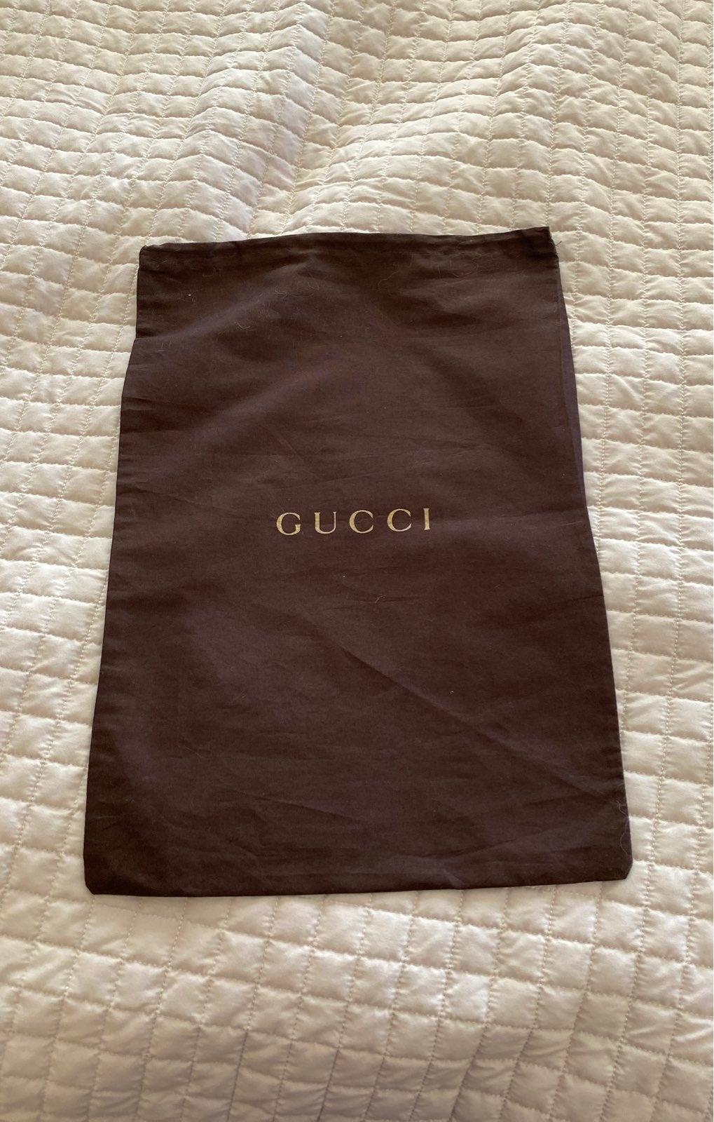 """Authentic Gucci shoe dust bag 17 x 12"""""""
