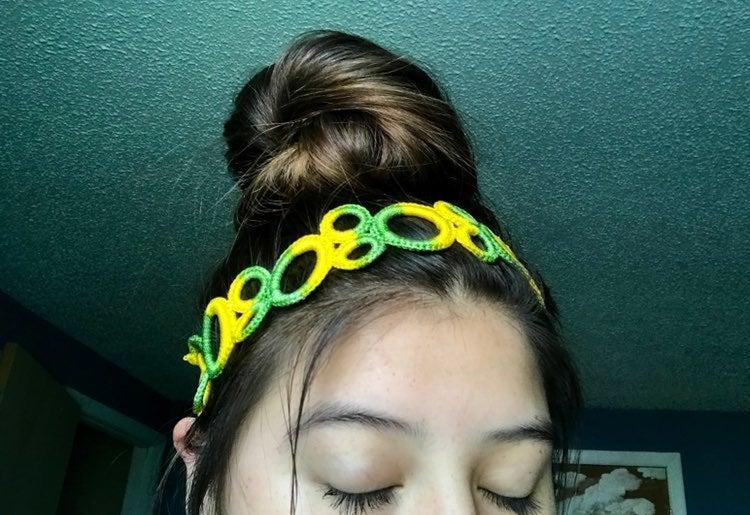 Tie dye knit headband , hair accessories
