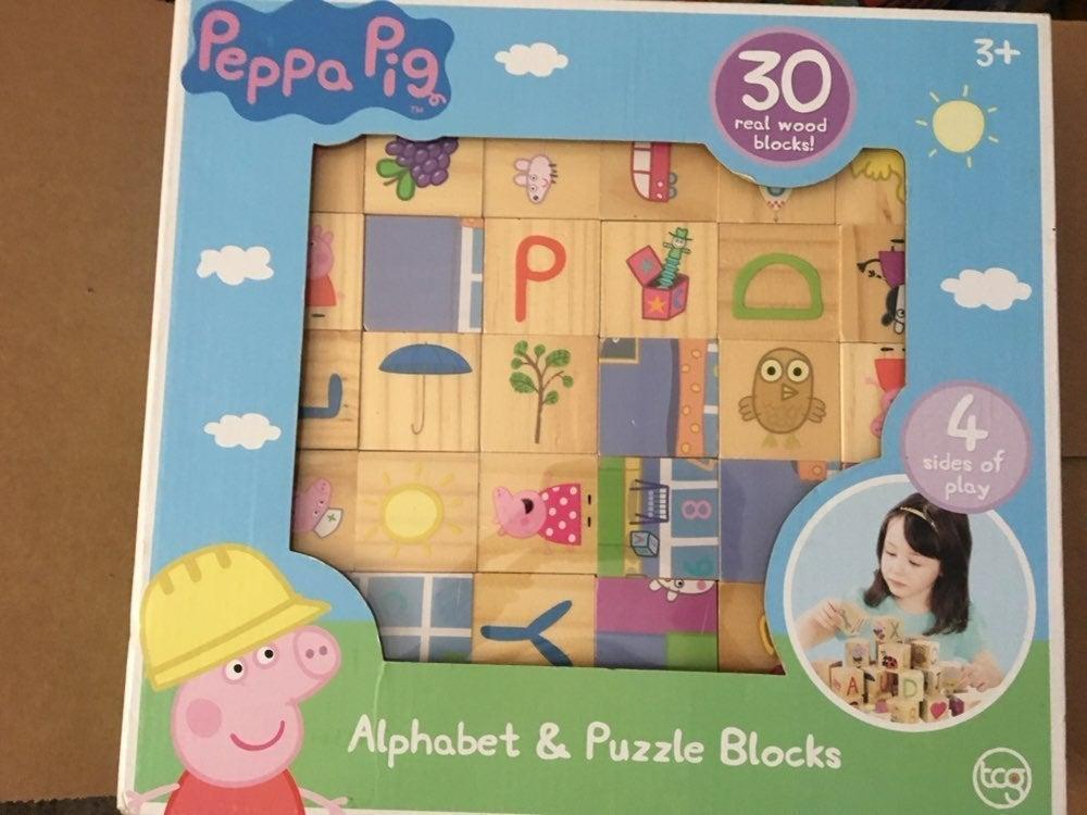 Peppa Pig alphabet wooden blocks puzzle