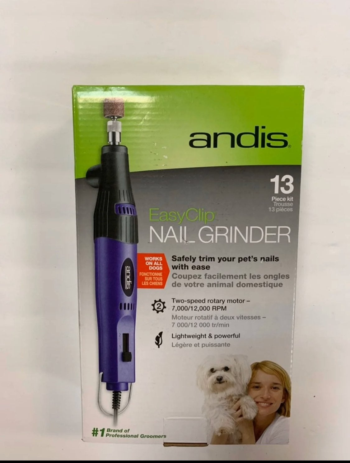 Andis EasyClip Professional Nail Grinder
