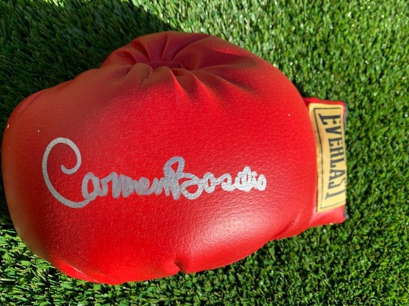 Signed Carmen Basilio Boxing Glove