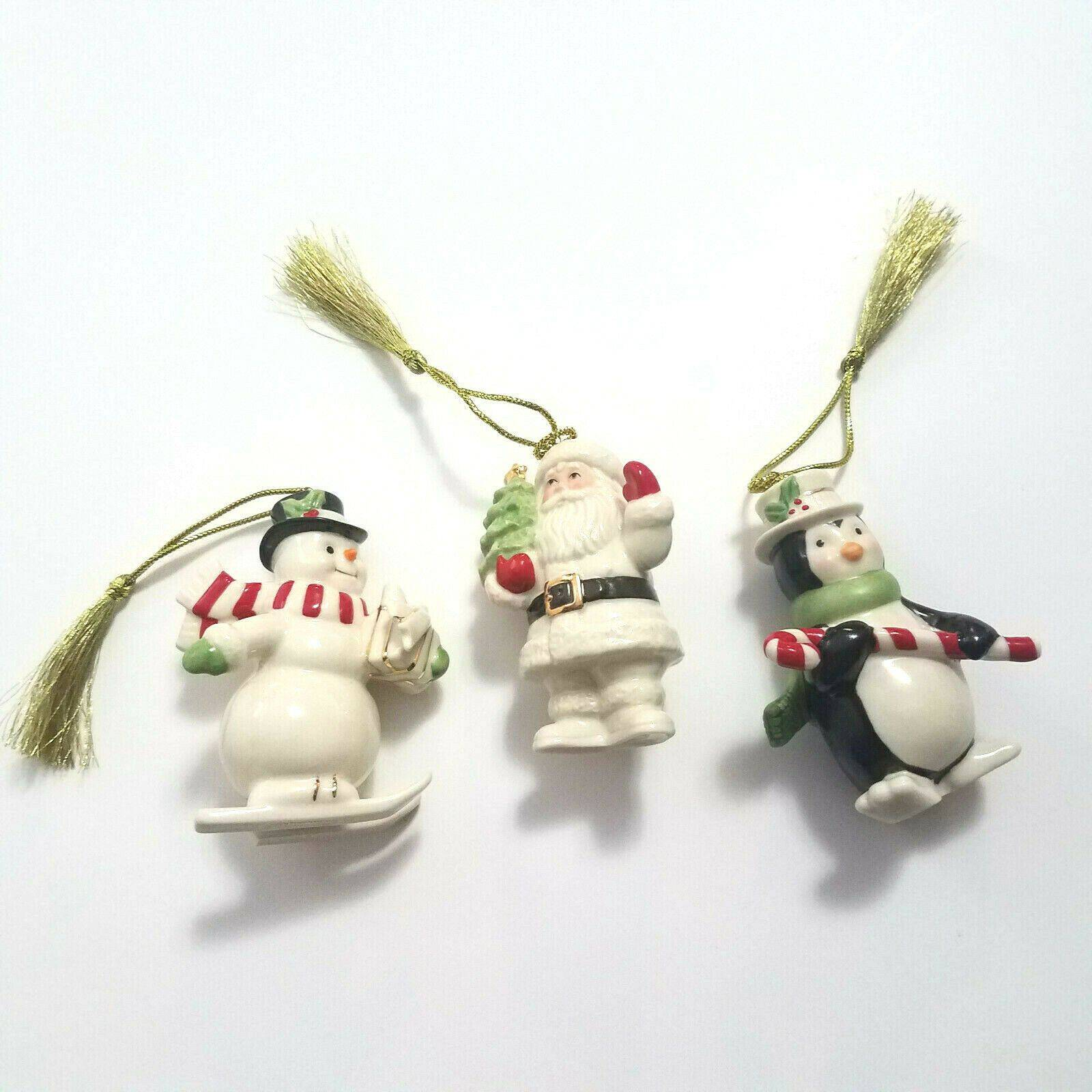 Lenox 3 Set Christmas Tree Ornaments
