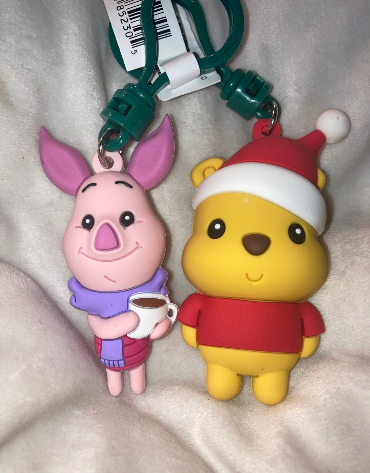 Disney Holiday Piglet and Pooh Bag Clip
