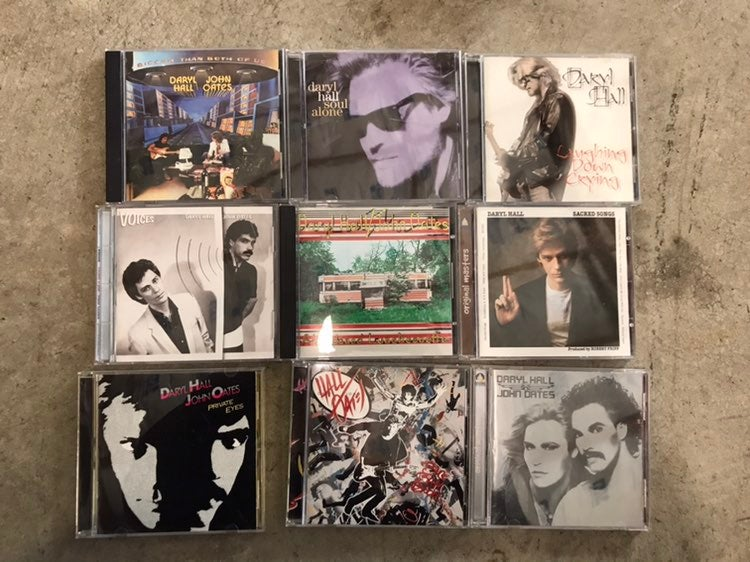 Hall and Oates and Daryl Hall cds