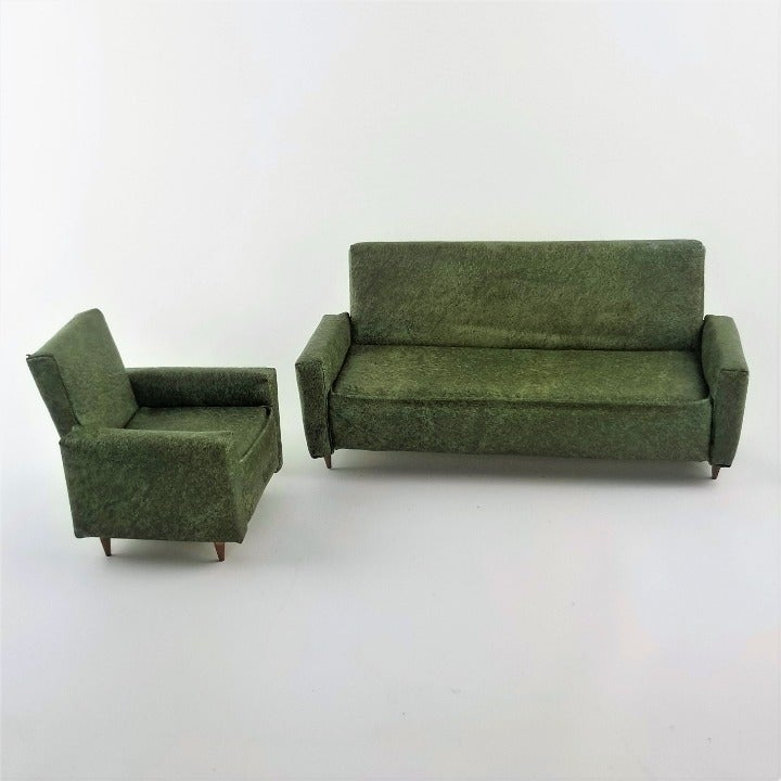 Vintage MCM Miniature Sofa & Chair Set