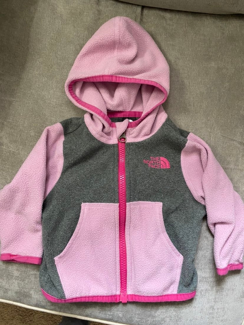 3-6 month baby girl north face fleece