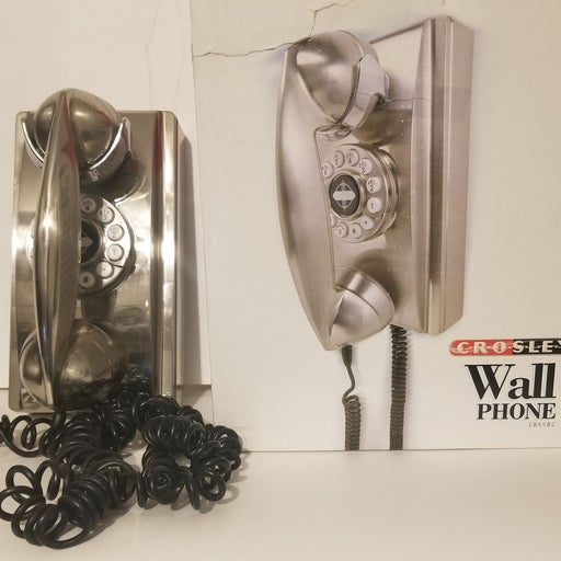 Crosley Chrome Wall Phone- Decor