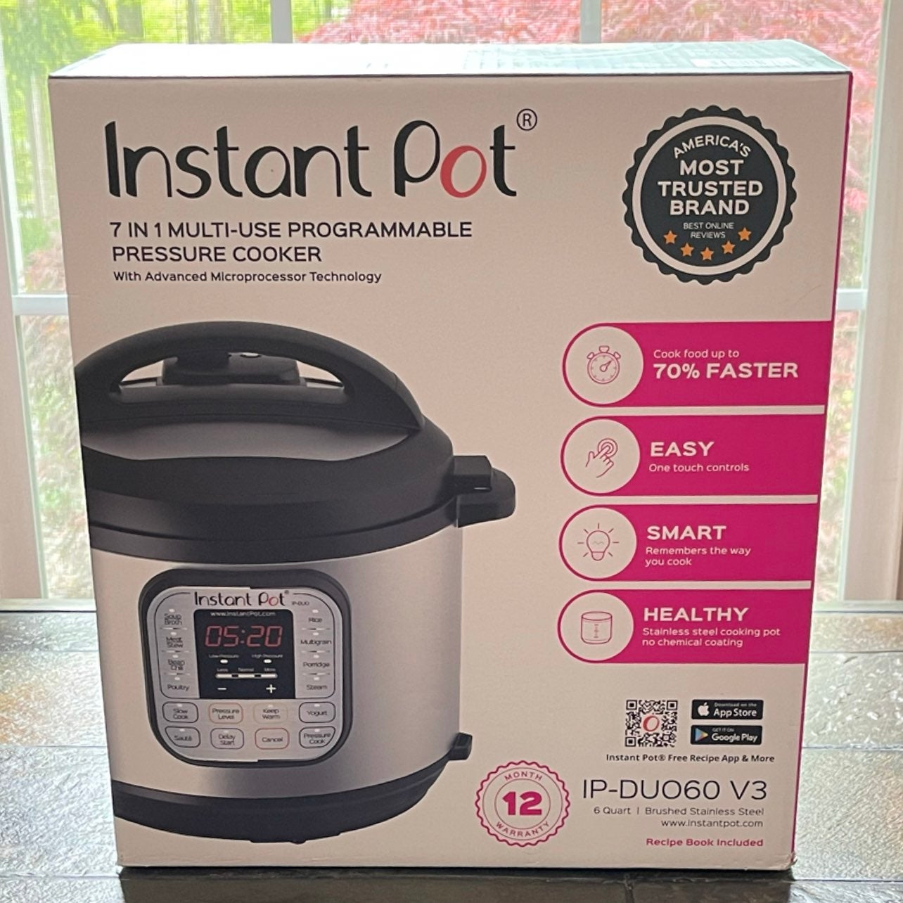 Instant Pot 7 in 1 Multi-Use 6 Qt Cooker