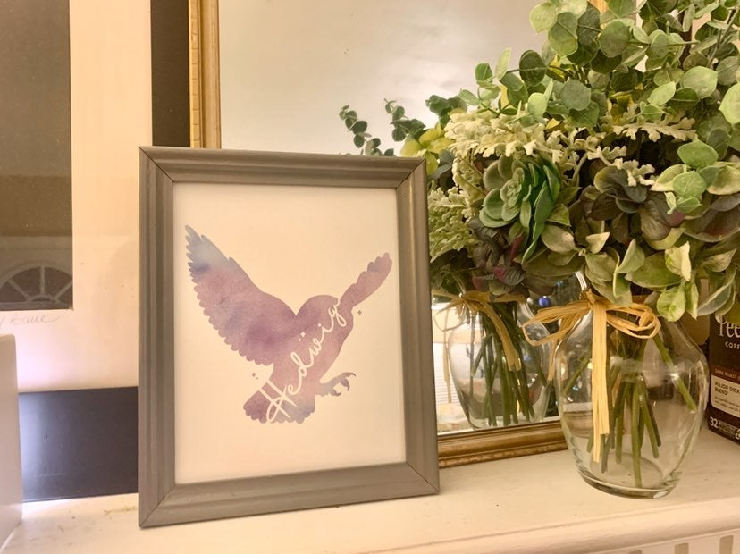 "Hedwig Watercolor Canvas Panel 8x10"""