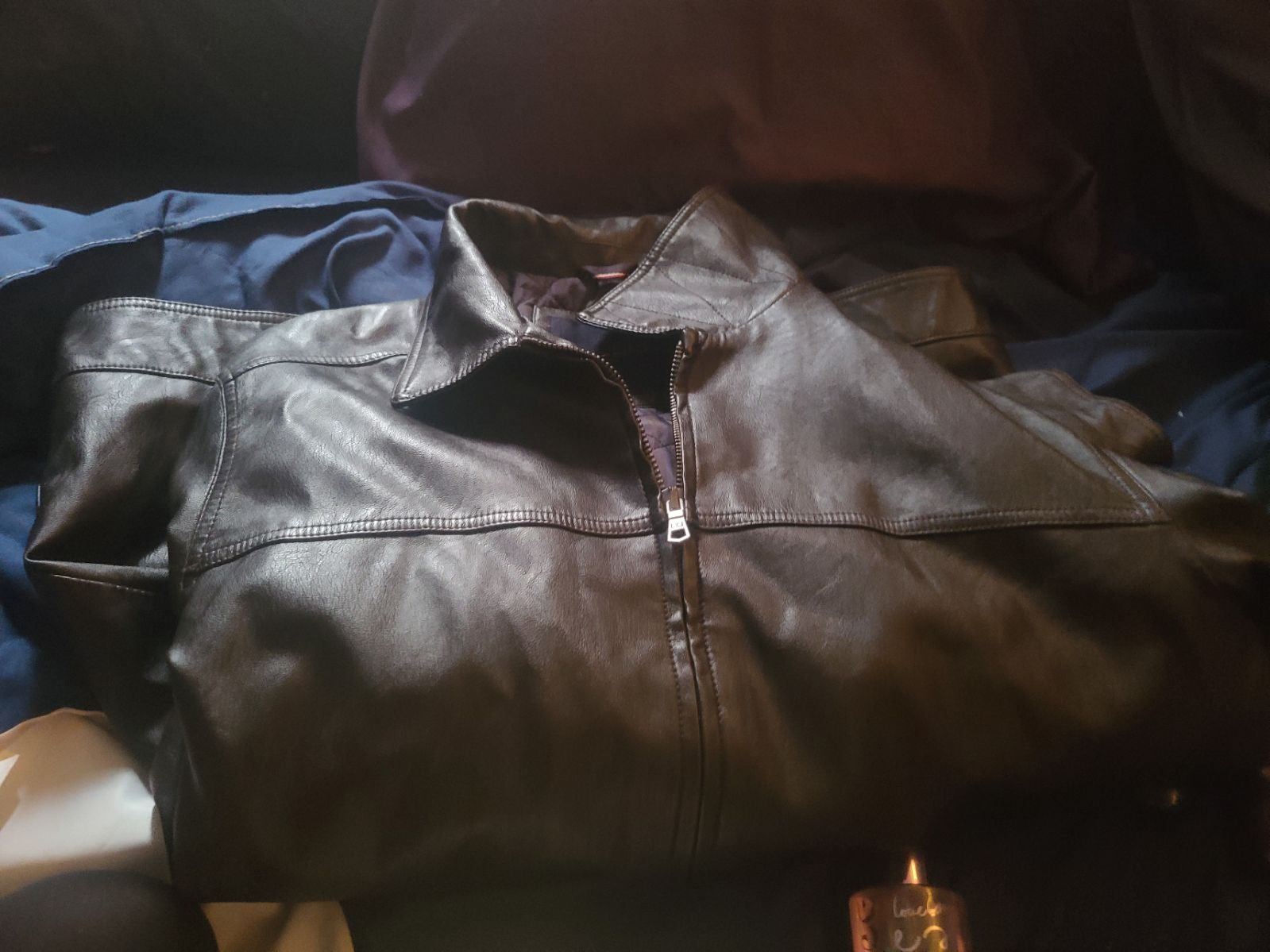 A beautiful Tommy Hilfiger leather coat