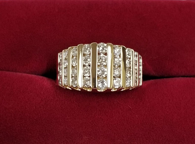 14k Gold Channeled Set Diamond Band Ring