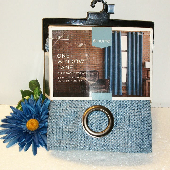 "Home Basketweave Window Panel 54X84"" NIP"