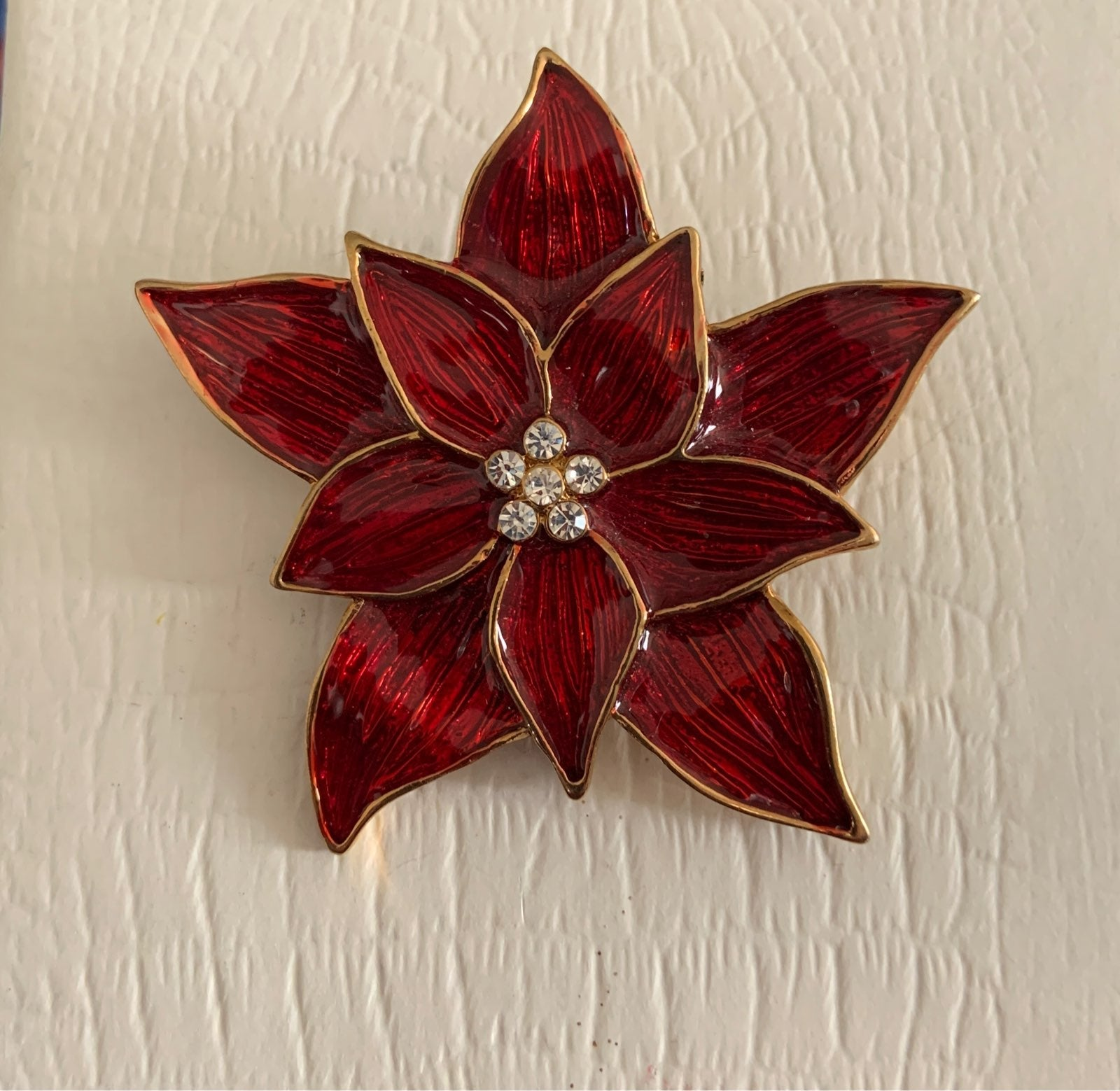 EISENBERG ICE Poinsettia Brooch Pin