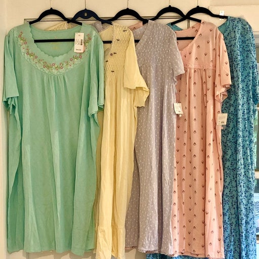 NWT 5 Pc cotton blend S/S Nightgowns 4X