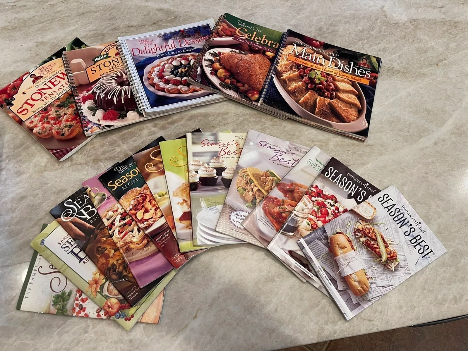 Pampered Chef cookbook Lot