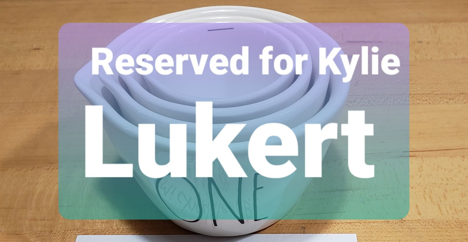 Reserved for Kylie